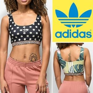 6740f80dbc01a adidas Intimates   Sleepwear - Adidas X Farm Company Polka Dot Tropical Bra  Top